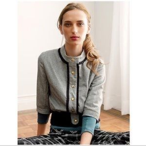 Anthropologie Madchen Bomber jacket Ruffle Wool L